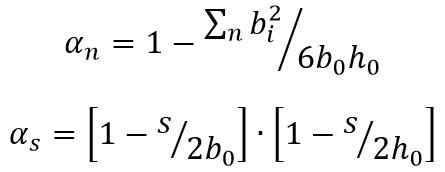 sezioni trasversali rettangolari